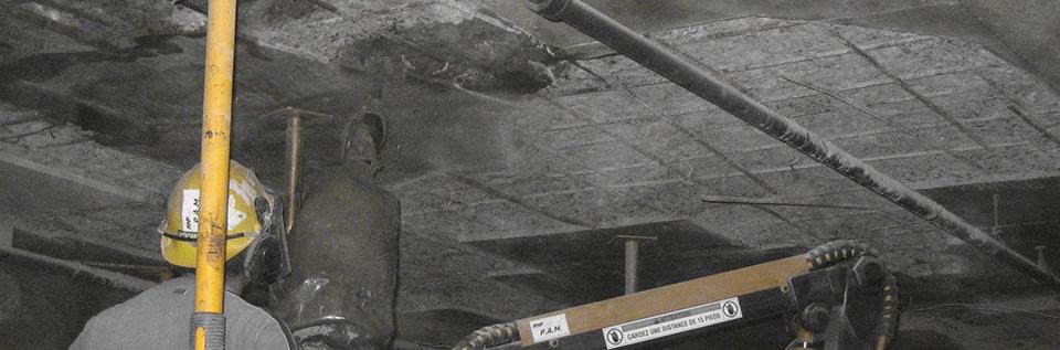 Garage Concrete Chipping