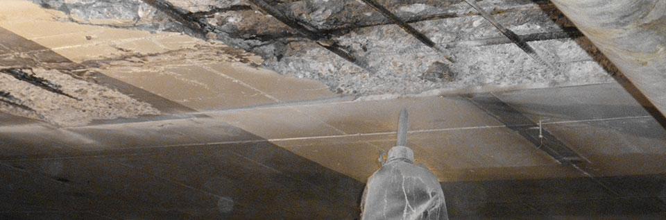 Concrete chipping parking garages
